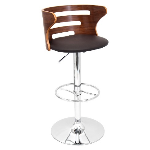 "Cosi Wood Top 31"" Barstool Metal/Walnut - LumiSource - image 1 of 4"