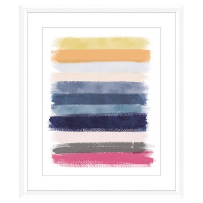Color Brush Lines I 18X22 Wall Art