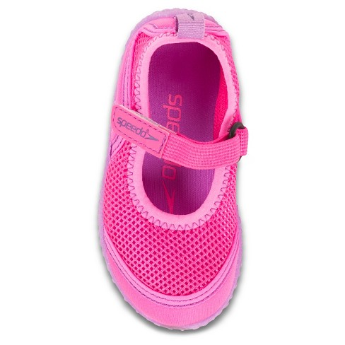 d3d601f6ba64 Speedo Toddler Kids Mary Jane Water Shoes - Pink (Large)   Target