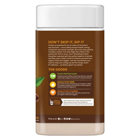 Olly Nourishing Smoothie Protein Powder - Pure Chocolate - 23.7oz ...