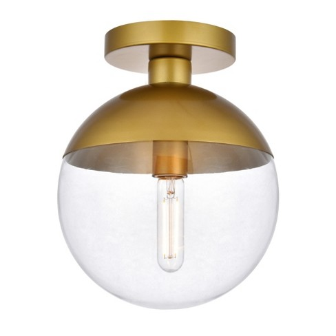 """Elegant Lighting LD6067 Eclipse 10"""" Wide Semi-Flush Globe Ceiling Fixture with Clear Glass - image 1 of 4"""