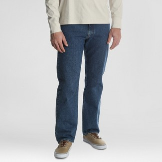 Wrangler Men's Relaxed Straight Fit Jeans - Dark Denim Wash 42x30