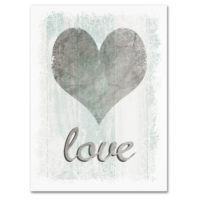 Love' by Lightbox Journal Ready to Hang Canvas Wall Art - Gray