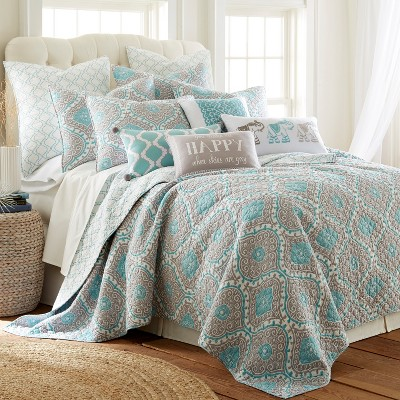 Gramercy Teal Quilt and Pillow Sham Set - Levtex Home