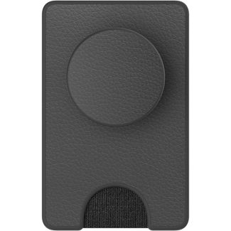 PopSockets PopWallet+ (with PopGrip Cell Phone Grip & Stand) - Black Vegan Leather