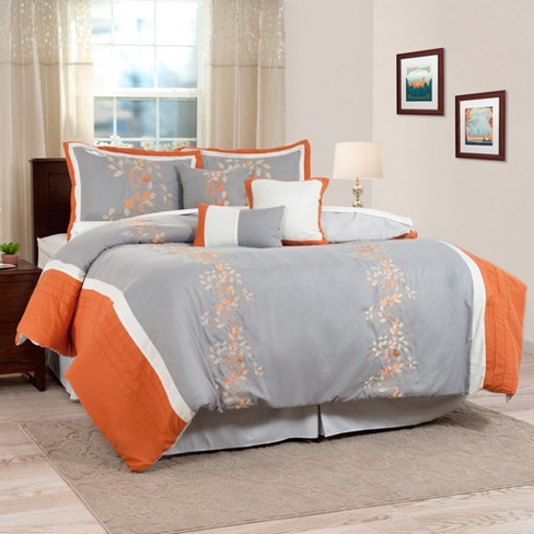 Branches 7 Piece Embroidered Comforter Set - Yorkshire Home - image 1 of 4