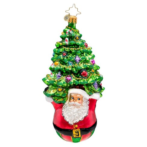 About this item - Christopher Radko Glass Joyful Lift Santa And Tree Christmas