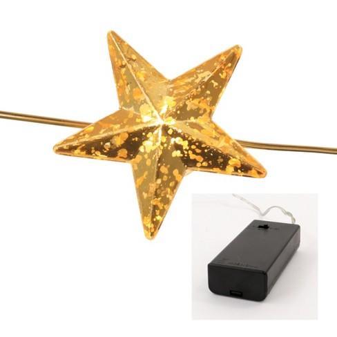 Star Led String Lights With Mercury Finish Gold Wondershop