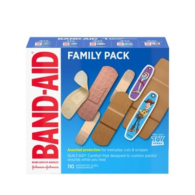 Band-Aid Adhesive Bandages Family Assorted Pack - 110ct