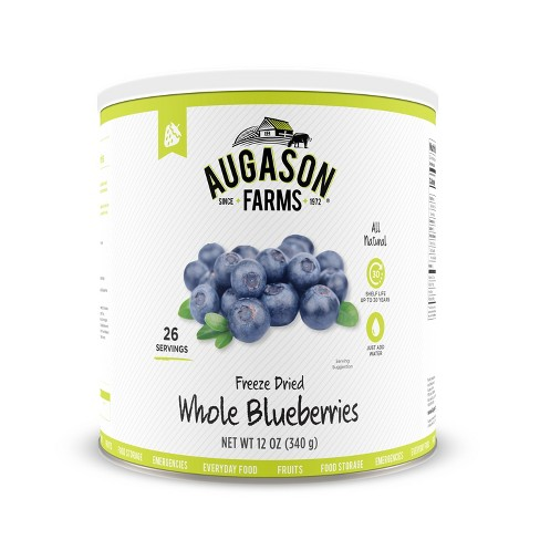 Augason Farms Gluten Free Freeze Dried Whole Blueberries - 12oz - image 1 of 8