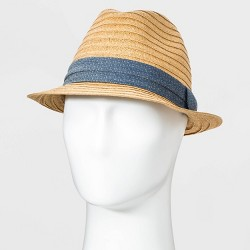 Men's Fedora Hat with Chambray band - Goodfellow & Co™ Brown