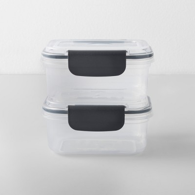 Rectangular Plastic Food Storage Container 2 cup 2pk - Made By Design™