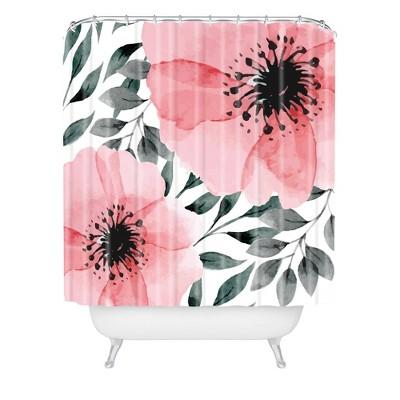 Marta Barragan Camarasa Big Flowers Shower Curtain Pink - Deny Designs