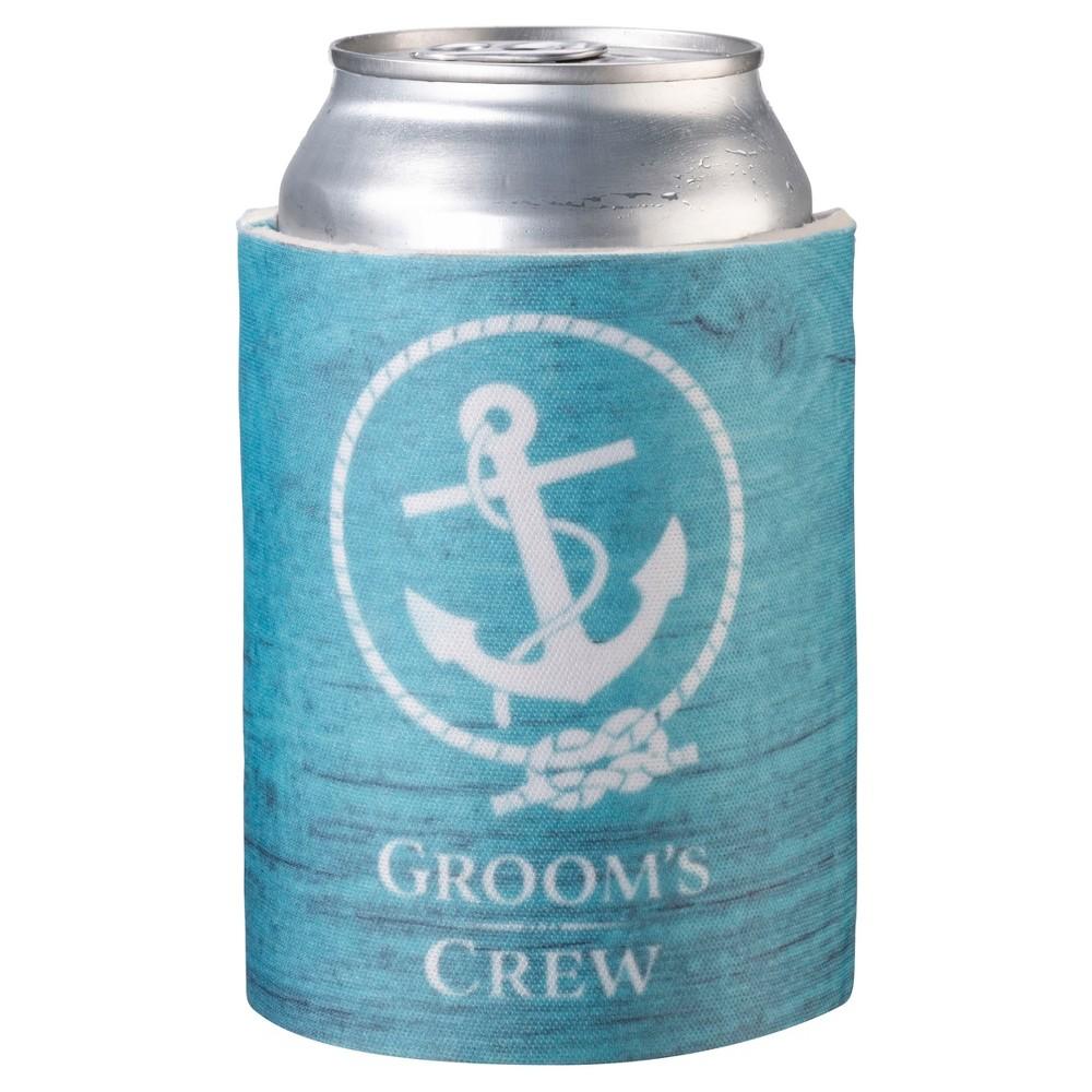 Aqua (Blue) Groom's Crew Can Cooler