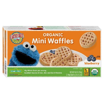 Earth's Best Organic All Natural Frozen Blueberry Mini Waffles - 32pk