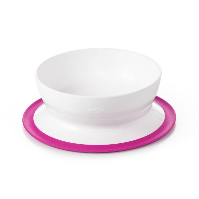 OXO TOT Stick & Stay Bowl - Pink