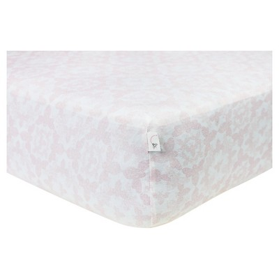 Burt's Bees Baby® Organic Fitted Crib Sheet - Paisley Bee - Blossom Pink