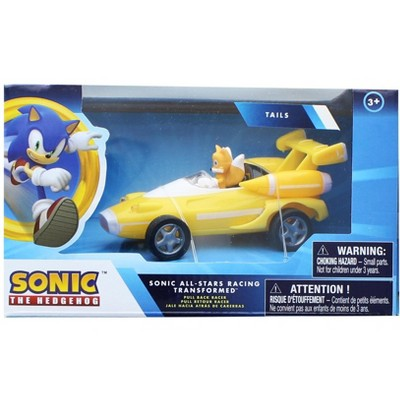 Nkok Sonic the Hedgehog All Stars Racing 3.5 Inch Pull Back Tails Car