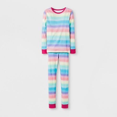 7307013c6ce Kids  Rainbow Pajama Set - Cat   Jack™ Pink   Target