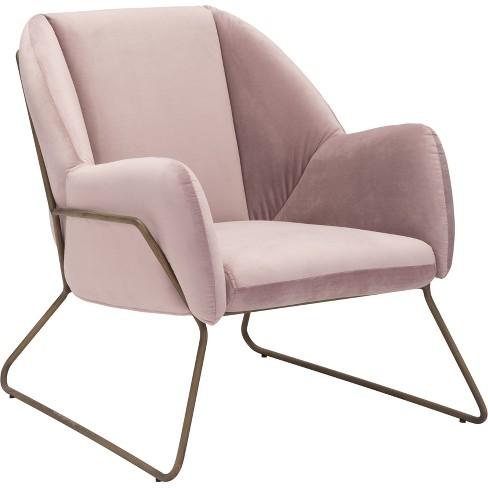 Modern Velvet Arm Chair - ZM Home - image 1 of 4
