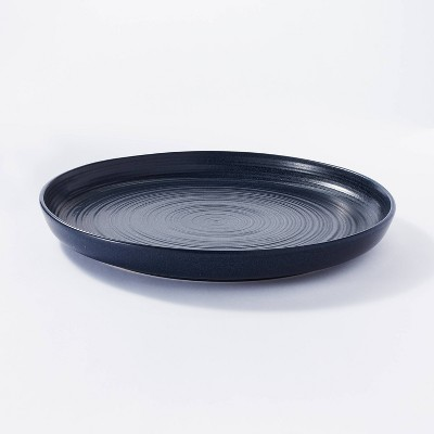 "15"" Stoneware Round Serving Platter Blue - Threshold™ designed with Studio McGee"