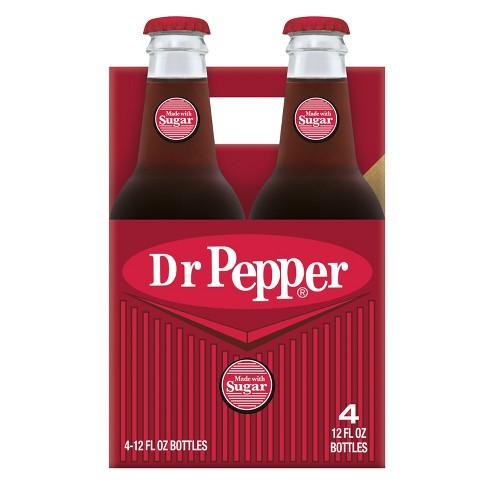 Dr Pepper Soda Made with Sugar - 4pk/12 fl oz Glass Bottles - image 1 of 4