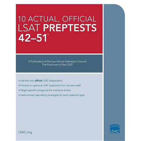 10 Actual 42-51, Official LSAT Preptests - by  Law School Council (Paperback) - image 1 of 1