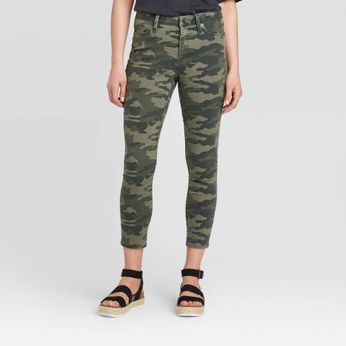 Women's High-Rise Cropped Skinny Jeans - Universal Thread™ Camo Print - image 1 of 4