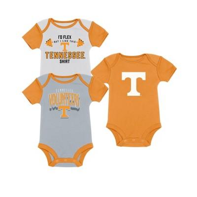 NCAA Baby Boys' 3pk Bodysuit Tennessee Volunteers - 6-9M