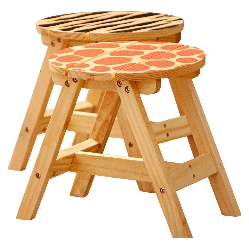 Fantasy Fields Sunny Safari Outdoor Chair Wood (Set of 2) - Teamson