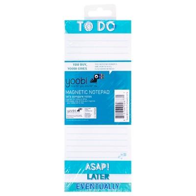 Yoobi™ Magnetic Notepad - Blue/White Chevron, 60 Sheets
