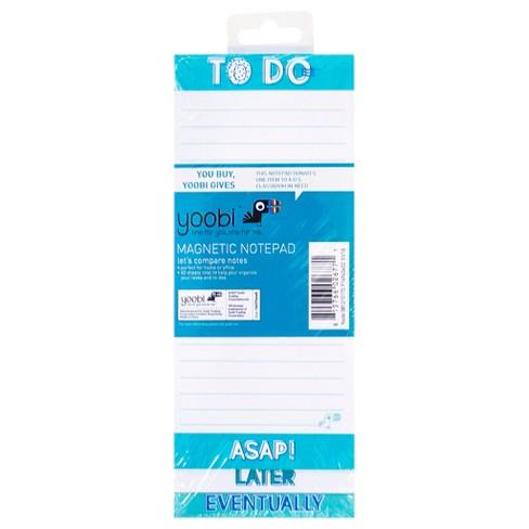 Yoobi™ Magnetic Notepad - Blue/White Chevron, 60 Sheets - image 1 of 2