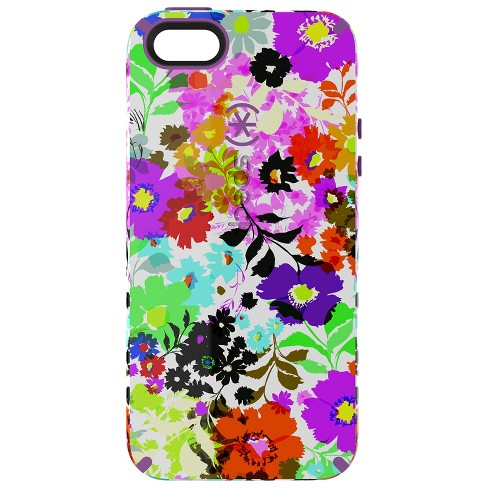 low priced 71d18 0dbad Speck iPhone 5/5S/SE CandyShell Inked Bright Flowers
