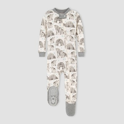 Burt's Bees Baby® Baby Organic Cotton Igloo Polarbear Footed Pajama - Gray 6-9M