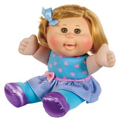 """""""12"""""""" Cabbage Patch Sitting Pretty Red Hair Doll - Blue Heart Dress"""""""