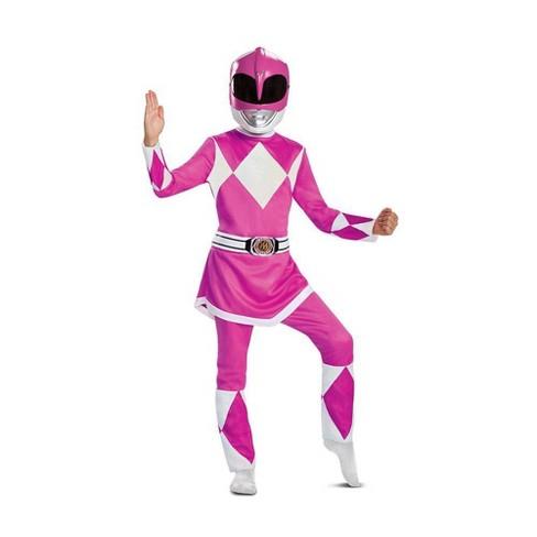 Kids' Deluxe Power Rangers Pink Ranger Halloween Costume Jumpsuit - image 1 of 3