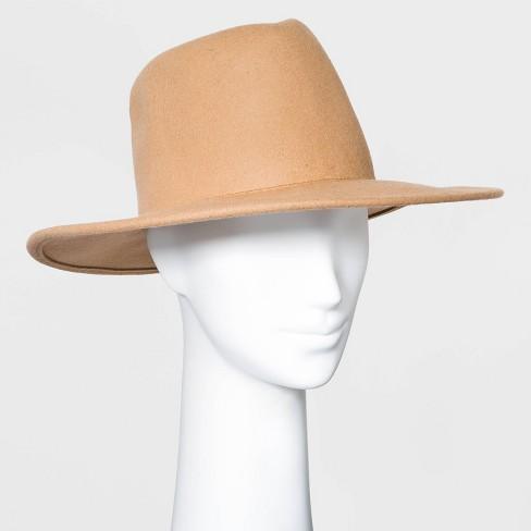 Women's Wide Brim Felt Western Fedora Hat - Universal Thread™ - image 1 of 2