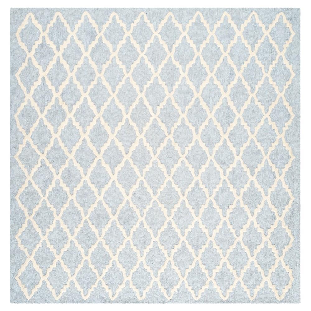 Denzel Area Rug - Light Blue/Ivory (4'x4' Square) - Safavieh
