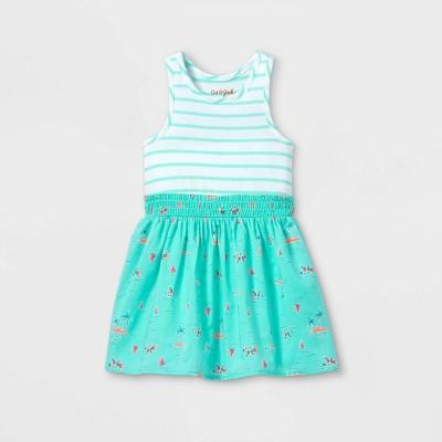 Toddler Girls' Tropical Tank Dress - Cat & Jack™ Mint Green