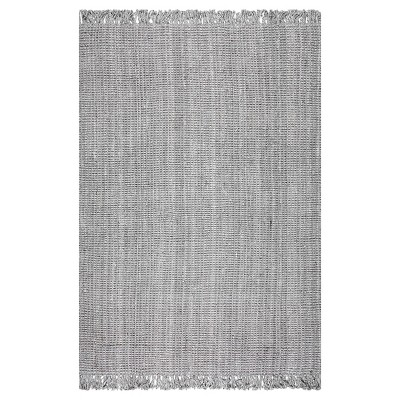 Sterling Gray Solid Knotted Runner - (2'6 x8')- nuLOOM