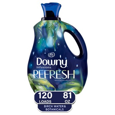 Downy Infusions Liquid Fabric Softener Refresh - Birch Water & Botanicals - 81 fl oz
