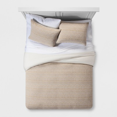 Beige Textured Woven Duvet Set (Full/Queen)- Project 62™ + Nate Berkus™