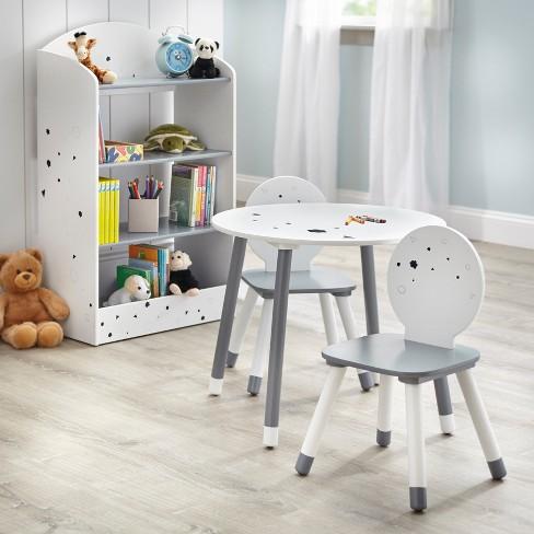Stupendous Talori Kids Table And Chair Set With Bookshelf Gray White Buylateral Dailytribune Chair Design For Home Dailytribuneorg