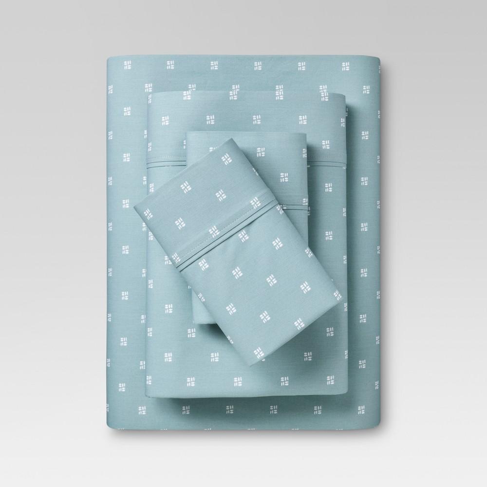 Organic Cotton Sheet Set (King) Light Blue - Threshold