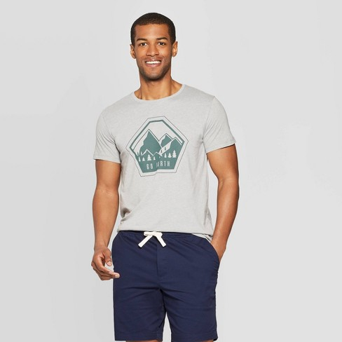 Men's Standard Fit Go Forth Short Sleeve Graphic T-Shirt - Goodfellow & Co™ Light Gray - image 1 of 3