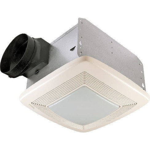 Broan QTXE110FLT 110 CFM 0.7 Sone Ceiling Mounted Energy Star Rated and HVI Certified Bath Fan - image 1 of 3
