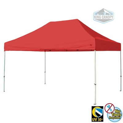 King Canopy 10'x15' Festival Instant Pop Up Tent with Red Cover
