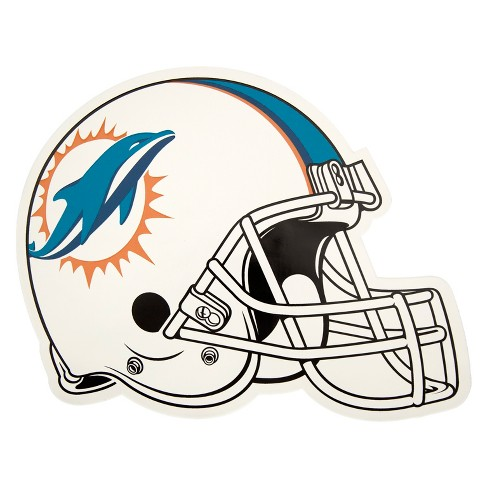 NFL Miami Dolphins Large Outdoor Helmet Decal - image 1 of 1