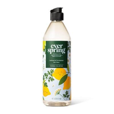 Lemon & Coriander Liquid Dish Soap - 18 fl oz - Everspring™