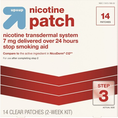 Nicotine Stop Smoking Aid Clear Patches Step 3 - 14ct - Up&Up™ - image 1 of 4
